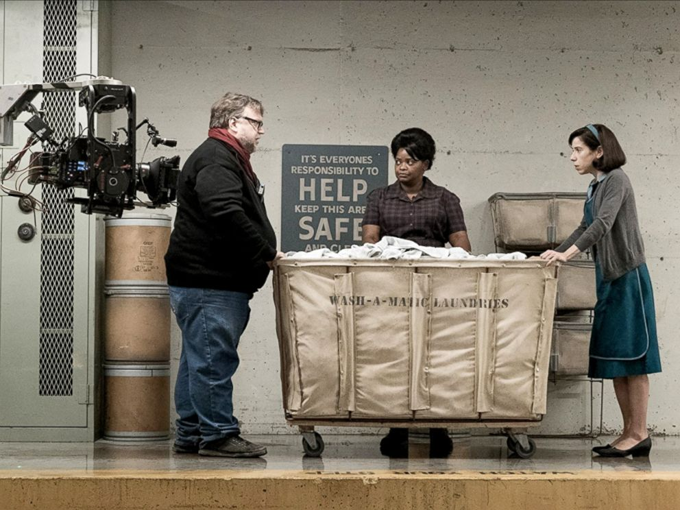 PHOTO: Guillermo del Toro, Octavia Spencer and Sally Hawkins in production for The Shape of Water.
