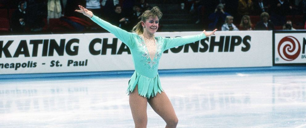PHOTO: Figure Skater Tonya Harding competes in the Figure Skating Championships, circa 1991, at the in Minneapolis.