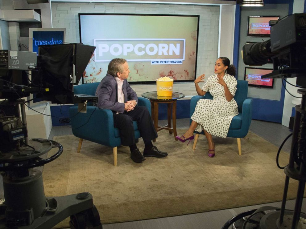 PHOTO: Tracee Ellis Ross appears on Popcorn with Peter Travers at ABC News studios, Oct. 10, 2017, in New York City.