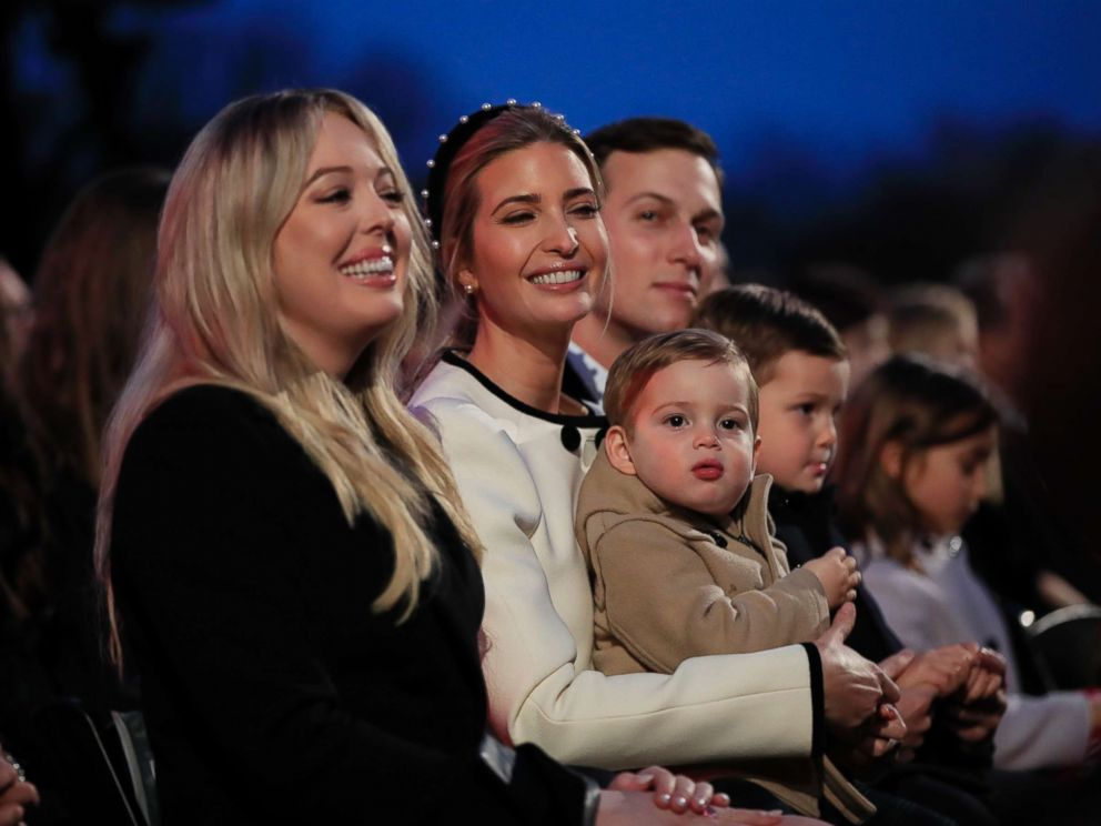 PHOTO Tiffany Trump left sits with Ivanka Trump and her husband Jared Kushner  sc 1 st  ABC News & Melania Trump leads 95th annual National Christmas Tree lighting ... azcodes.com