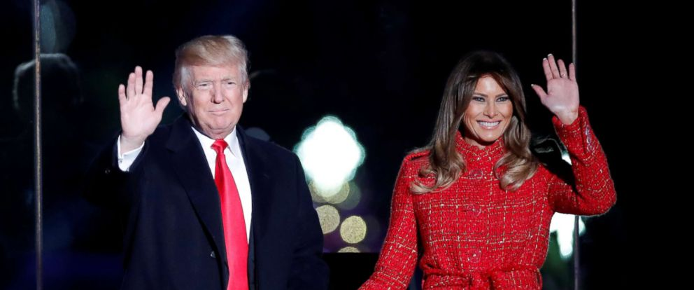 PHOTO President Donald Trump and First Lady Melania Trump attend the National Christmas Tree Lighting  sc 1 st  ABC News & Melania Trump leads 95th annual National Christmas Tree lighting ... azcodes.com