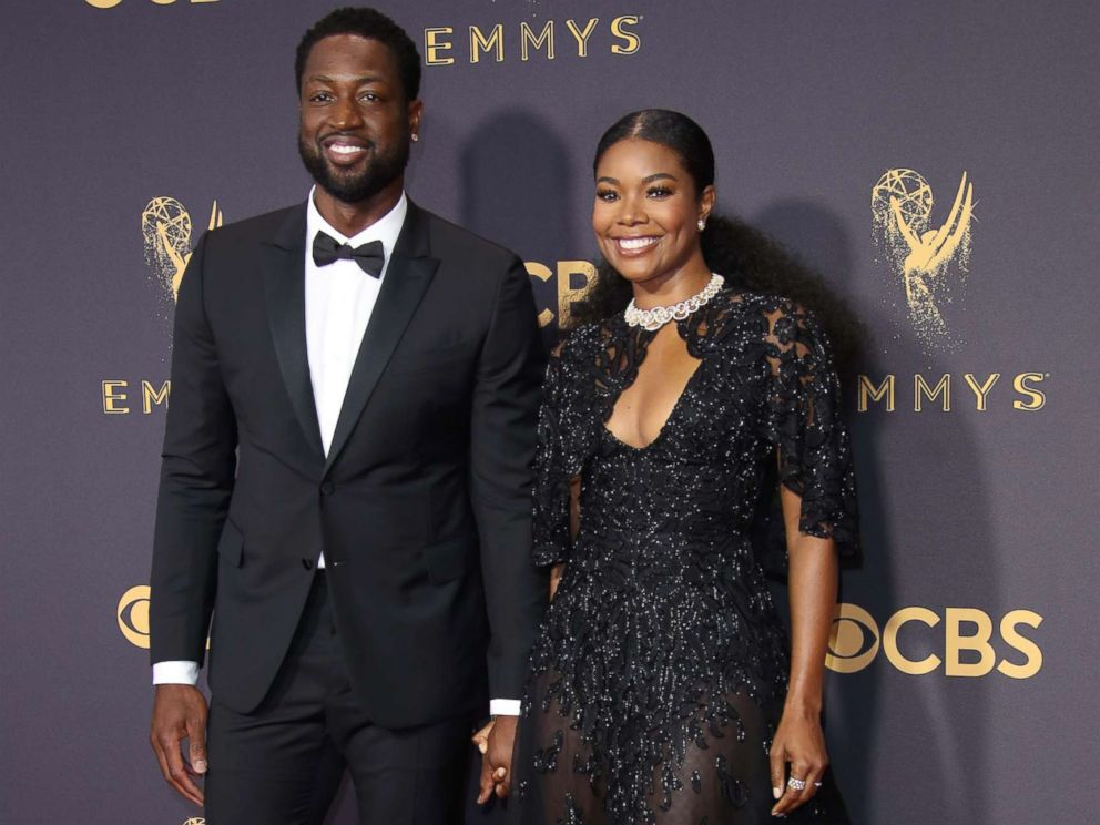 Gabrielle Union arrive on the red carpet at the 69th Emmy Awards at the Microsoft Theater Sept. 17 2017 in Los Angeles