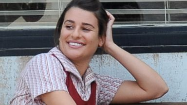 Glee to Sons of Anarchy! Lea Michele Shoots with Katey Segal