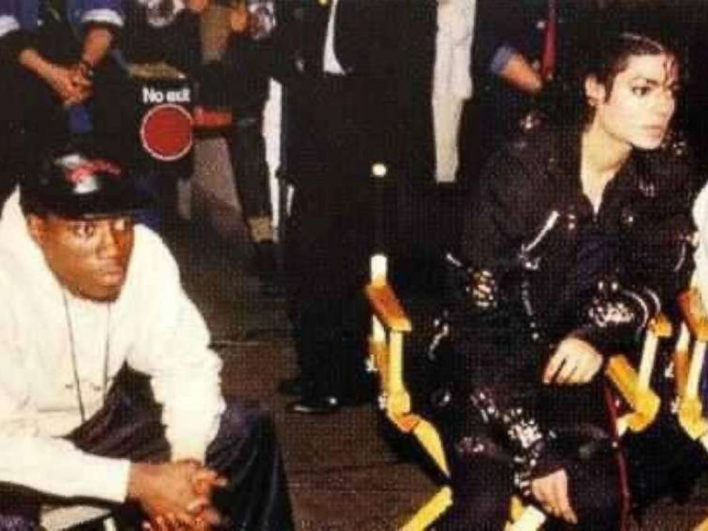 PHOTO: Martin Scorsese, Wesley Snipes, and Michael Jackson in Michael Jackson: Bad, 1987.