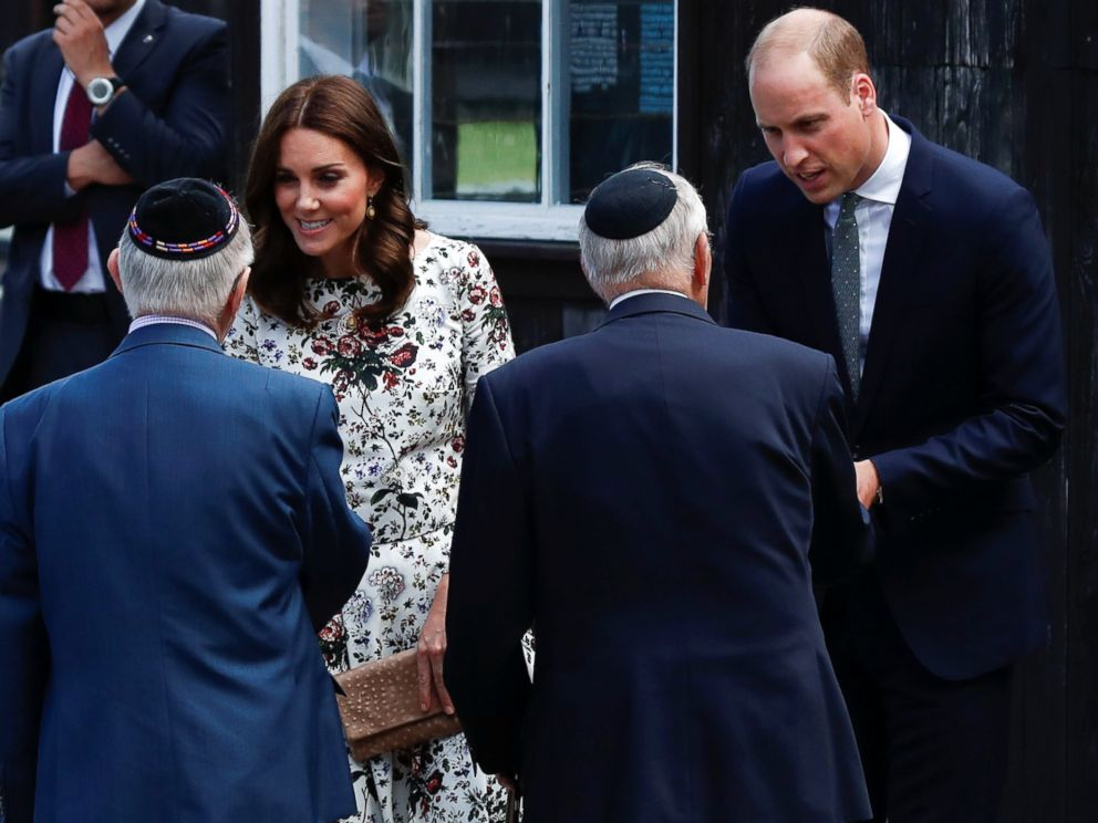 PHOTO: Catherine, The Duchess of Cambridge and Prince William, the Duke of Cambridge meet with Holocaust survivors during their visit at the museum of former German Nazi concentration camp Stutthof in Sztutowo, Poland, July 18, 2017.