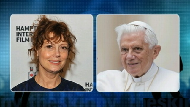 VIDEO: Susan Sarandon calls Pope Benedict a Nazi.