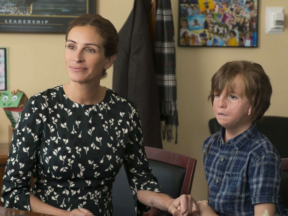PHOTO: Jacob Tremblay, right, and Julia Roberts are pictured in a scene from Wonder.