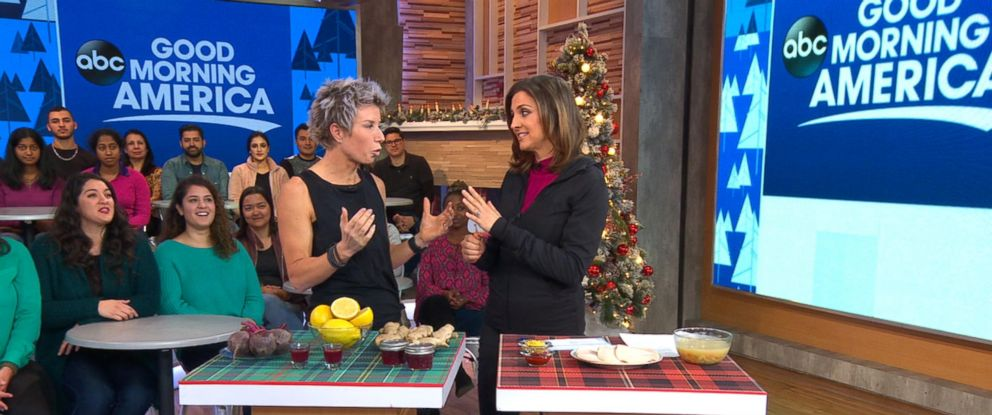 """PHOTO: Erin Oprea, Carrie Underwoods trainer, shares a post-Christmas workout to do at home on """"Good Morning America,"""" Dec. 26, 2017."""