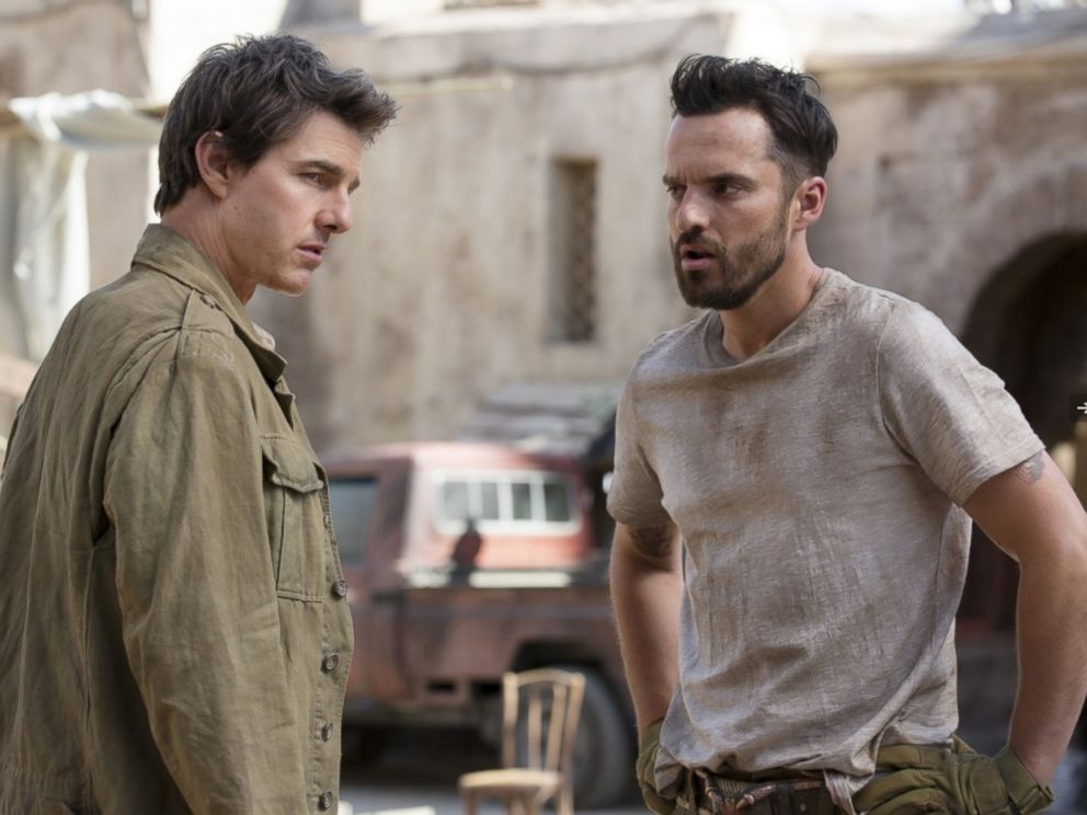PHOTO: Tom Cruise and Jake Johnson in The Mummy.
