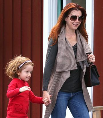 Alyson Hannigan and Satyana's Cute Coffee Break