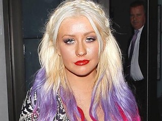Photos: Xtina's New Violet, Pink Hair