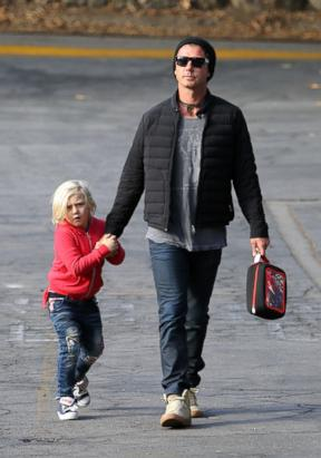 Gavin Rossdale out with youngest son Zuma