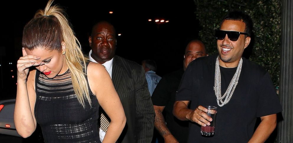 PHOTO: Khloe Kardashian and French Montana arrive at Ceconnis party April 10, 2014.