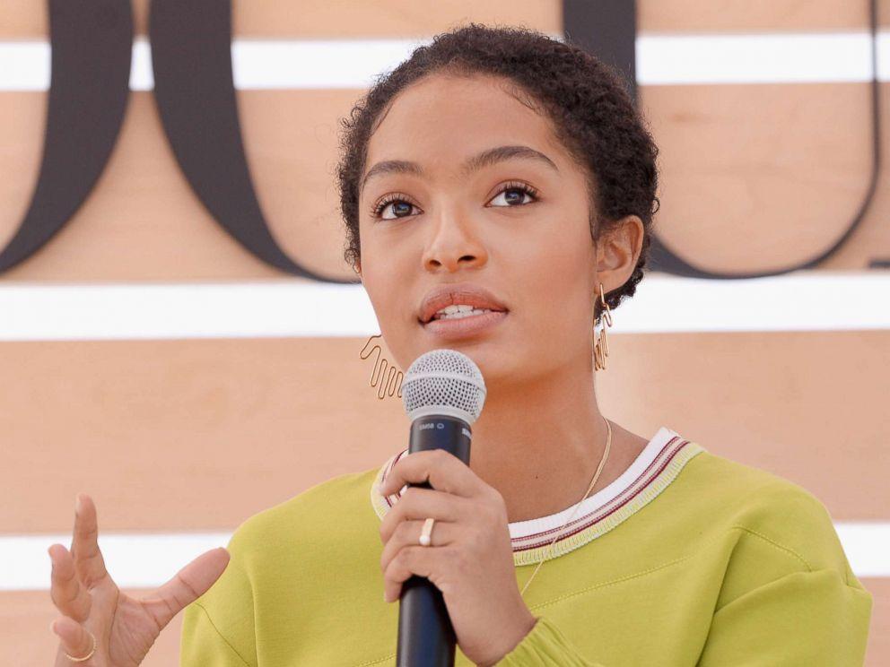 PHOTO: Yara Shahidi speaks onstage during The Teen Vogue Summit, Dec. 2, 2017, in Playa Vista, Calif.