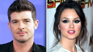 Robin Thicke and Leighton Meester