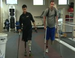 VIDEO: Jason Pak and Eric Zastoupil are determined not to let their amputations slow them down.