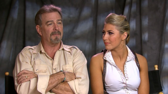 VIDEO: The comedian and partner Emma Slater offer their opinion on which couple will take the mirrorball.