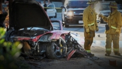 "VIDEO: ""Fast and Furious"" star was in a Porsche driven by Roger Rodas when it struck a tree."