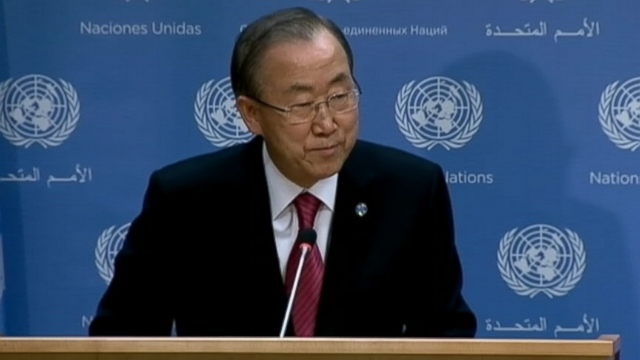 Video: UN Secretary General Ban Ki-moon Profoundly Saddned By Passing of Nelson Mandela