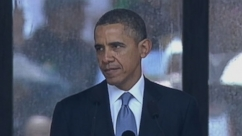 VIDEO: Over 100 Heads of State join Nelson Mandela's family and country to mourn the civil rights leader.