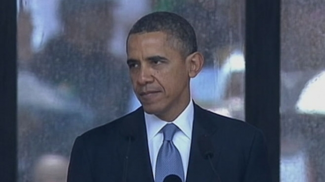 Video: Obama at Mandela Memorial: His Triumph Was Your Triumph
