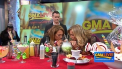 "VIDEO: Ginger and Lara learn how to make sweet and festive holiday drinks on ""GMA LIVE!"""