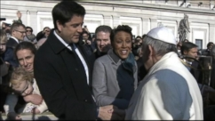 Robin Roberts and Josh Elliot talk to George Stephanopoulos about meeting Pope Francis.