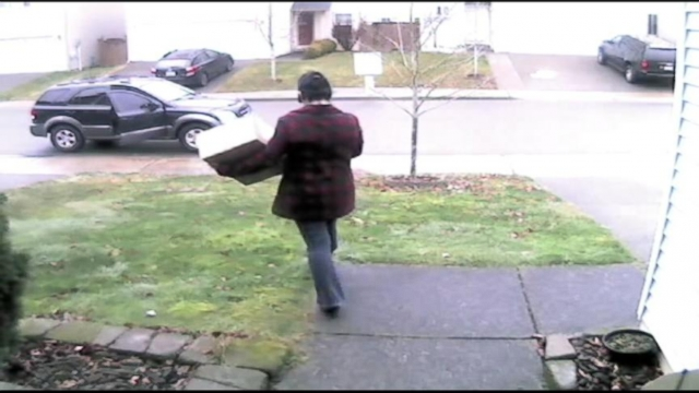 Cameras on homes have caught thieves taking packages from doorsteps.