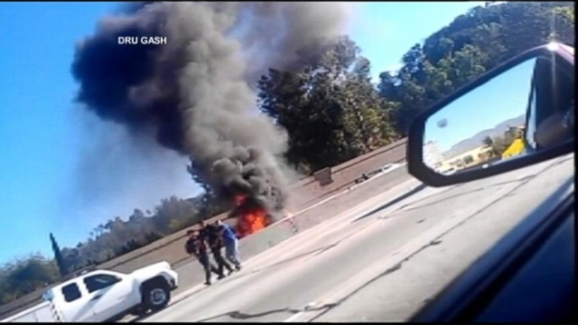 VIDEO: Fiery Car Crash Rescue
