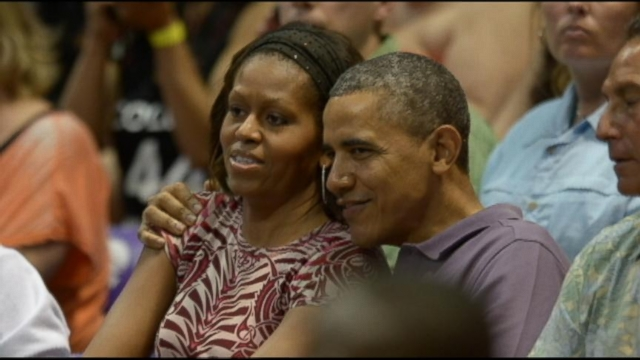 VIDEO: The first lady will spend extra time in Hawaii as her husband and daughters return to Washington.