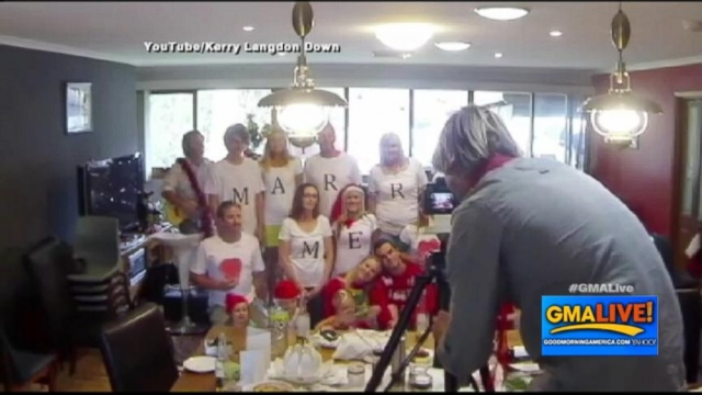 VIDEO: Christmas Card Becomes Marriage Proposal