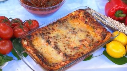 Spinach and Mushroom Lasagna Recipe | Emeril Lagasse | Recipe - ABC ...