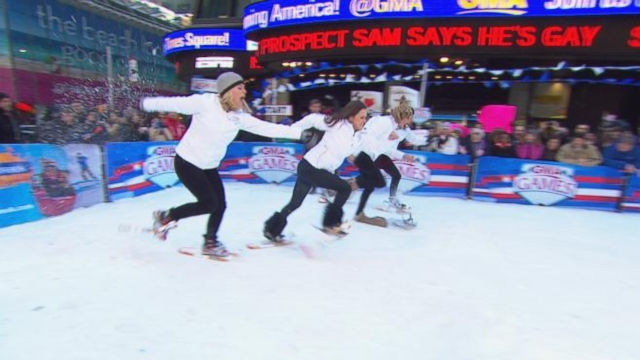 Who Will Win Gold in the 'GMA' Snowshoe Race?