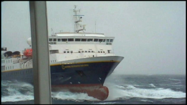 VIDEO: An elderly passenger is killed after a break wave hits the British ship Marco Polo.