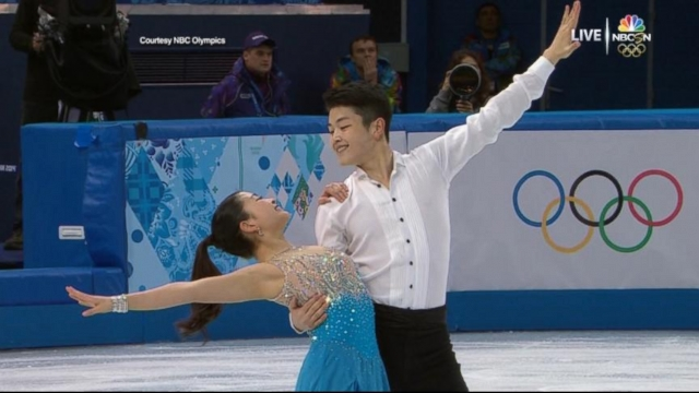 VIDEO: Alex and Maia Sibutanis ice dance puts them in medal contention.
