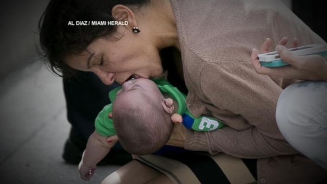 VIDEO: Heart-Stopping Moment When Woman Saved Baby