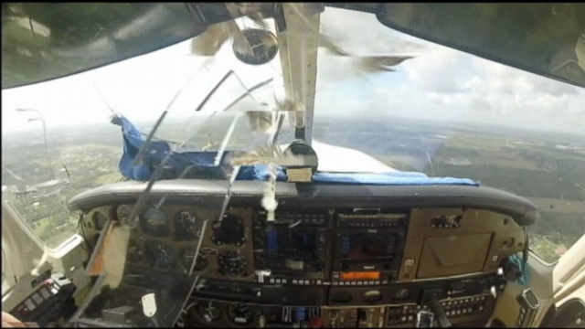 VIDEO: Bird Crashes Through Planes Windshield