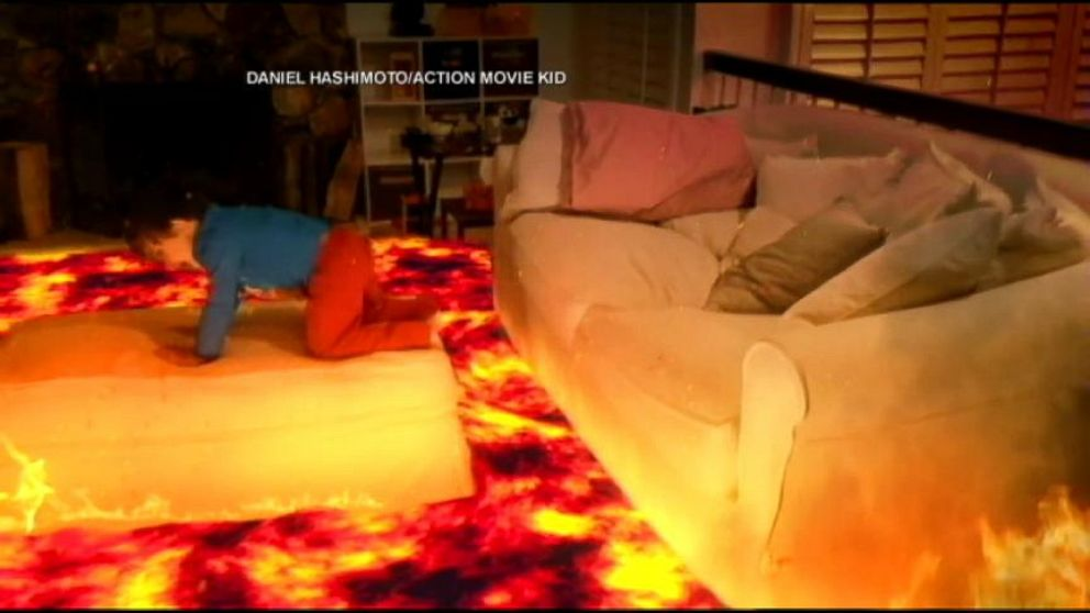 """VIDEO: One parent uses his special effects skills to make videos of his son in """"epic situations."""""""