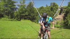 VIDEO: Daredevils Bungee Bike Over 100-Foot Drop