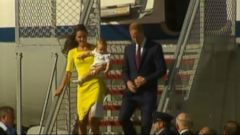 VIDEO: Prince George Makes First Appearance in Sidney