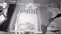 VIDEO: Burglar Caught on Tape Creeping in Babys Room