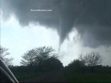Couple's Tense Moments Escaping - and Videotaping - a Tornado