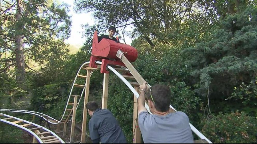 Dad Builds Roller Coaster In Backyard Video Abc News