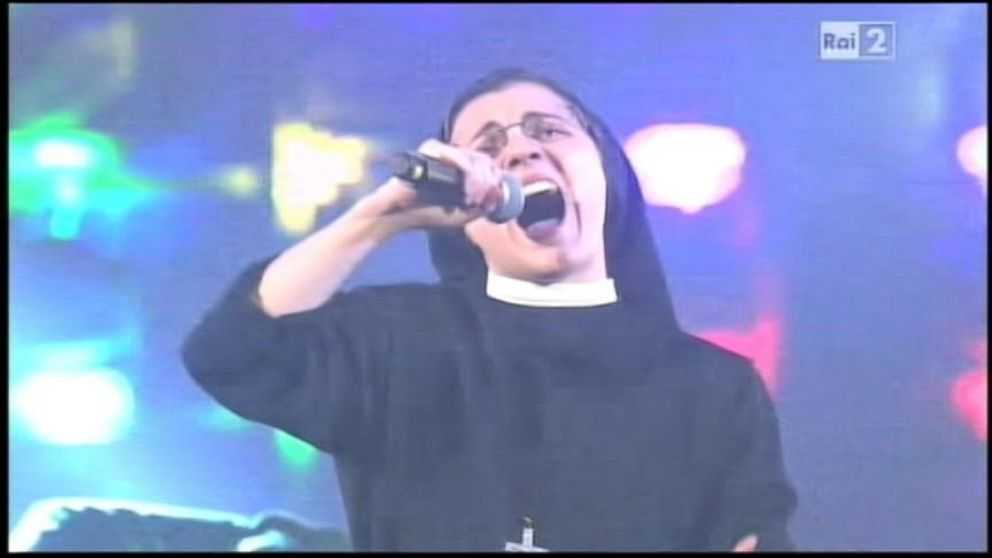 VIDEO: The Voice Italys Singing Nun Strikes Again