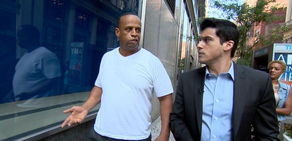 VIDEO: Gio Benitez catches up with a man allegedly involved in a pay-to-work scheme.