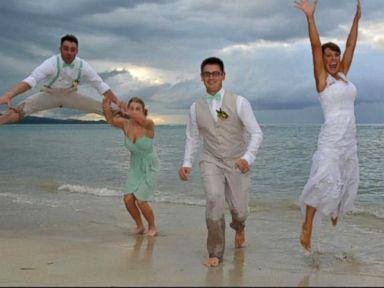 Watch: Epic Wedding Photo Fail: Groomsman Kicks Bridesmaid, Rips Pants