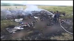 VIDEO: Cellphone Video Captures Malaysia Plane Crash