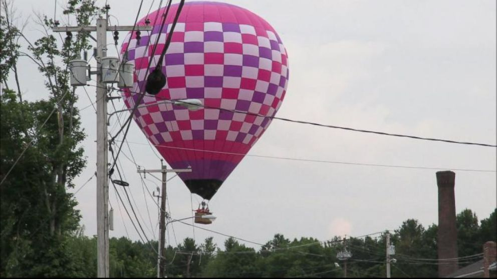 VIDEO: A birthday celebration turned ugly when a hot air balloon crashed into power lines.
