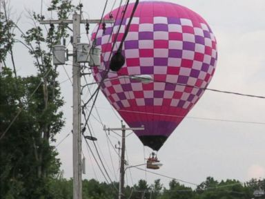 Video Shows Hot Air Balloon's Fiery Crash Into Power Lines