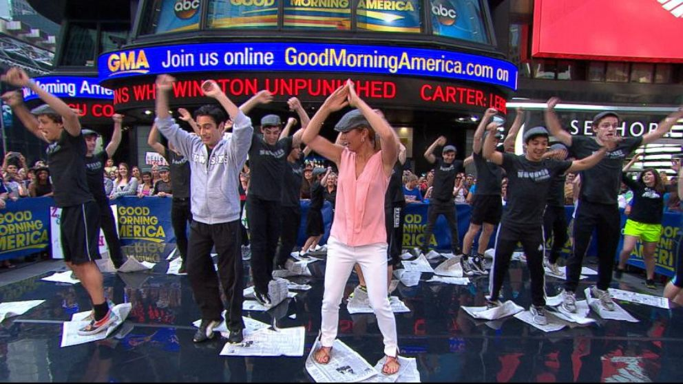 Newsies Dance Workout in Times Square